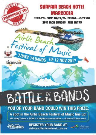 PASSPORT TO AIRLIE BATTLE OF THE BANDS - GRAND FINAL