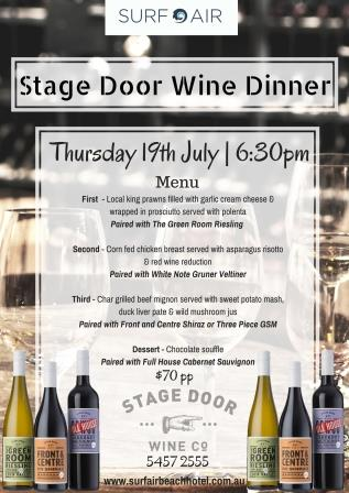 STAGE DOOR WINE CO. DINNER